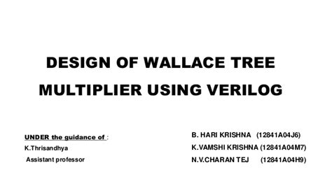 design of booth multiplier wallace tree multiplier pptx1