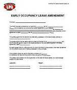 Occupancy Agreement Template Early Occupancy Agreement Lease Addendum