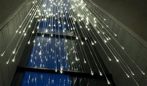 bruce munro s light shower is an ethereal cascade of led