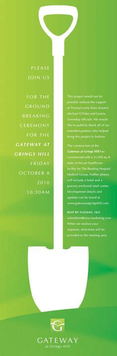 Groundbreaking Ceremony Invitation Templates by Groundbreaking Ceremony Invitation Templates