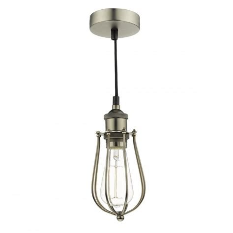 Cage Light Pendant Tau0167 Taurus 1 Light Pendant Cage Pewter