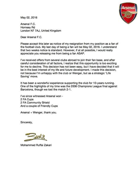 received a 221g letter go online to check your case check out this letter arsenal received from a nigerian fan