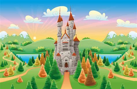 Landscape Wall Mural cartoon castle wallpaper wall mural muralswallpaper co uk