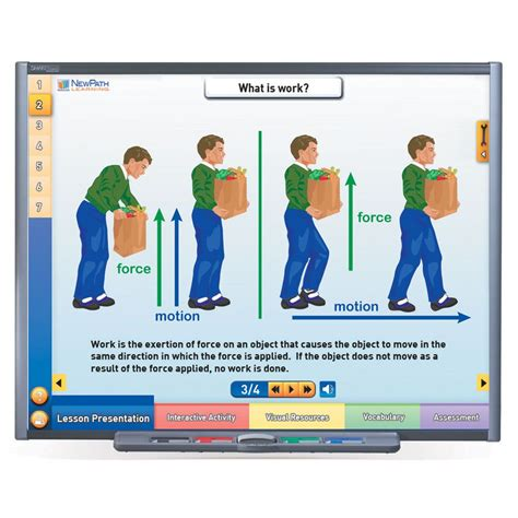 physical science multimedia lessons for interactive
