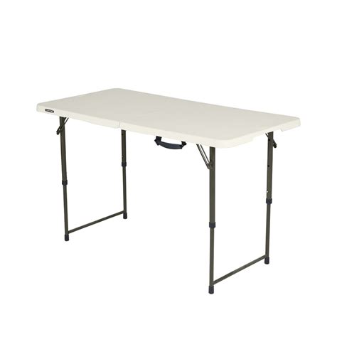 4 ft bifold table lifetime 4ft bi fold mould trestle table bunnings