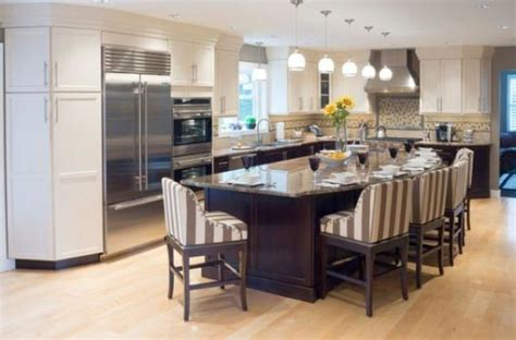 kitchen islands with seating for 6 kitchen island with seating for six with striped upholstery