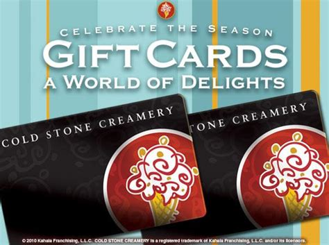 Coldstonecreamery Com Gift Card Balance - holiday gift cards highland cold stone jpg from cold stone creamery in highland ca 92346