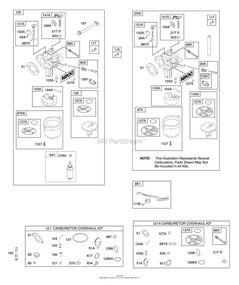 carburetor diagram briggs stratton briggs and stratton 217802 4145 f1 parts diagram for