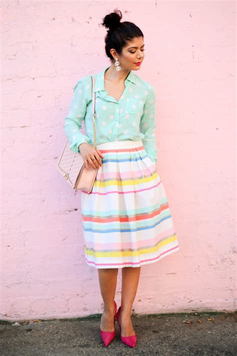 colorful skirts 5 ways to wear a colorful striped skirt