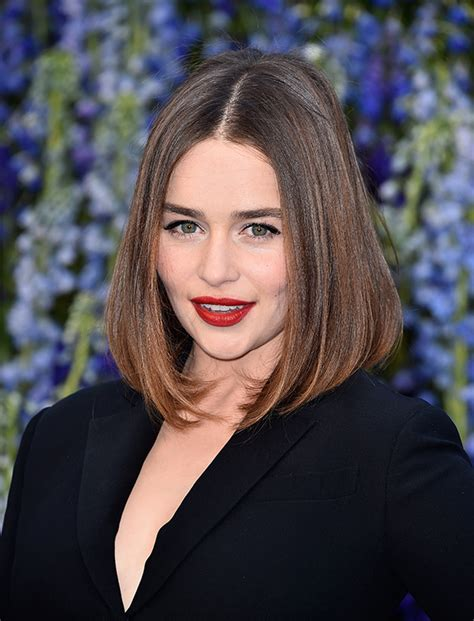 pictures of average peoples hairstyles emilia clarke medium straight bob hairstyles