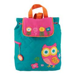 quilted owl toddler backpack