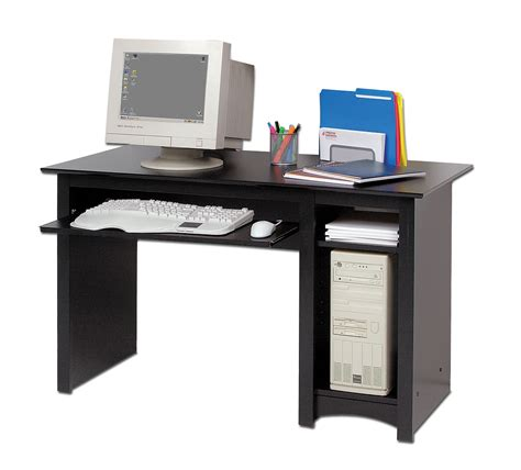 pc desks prepac sonoma black 48 inch computer desk beyond stores