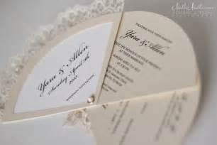 wedding invitation fans real weddings stationery by nulki nulks