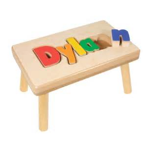 personalized puzzle stool bundle of