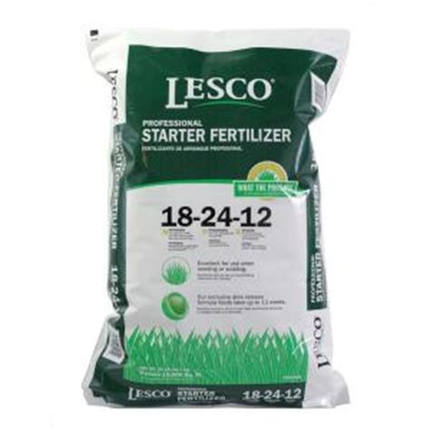 lesco 50 lb 18 24 12 starter fertilizer 052405 the home