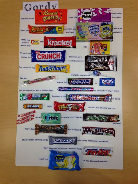 candy christmas boards for co workers get well poster card for co worker work stuff birthday posters