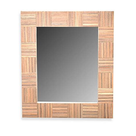 bed bath and beyond cheyenne buy jeffan cheyenne wood mirror in rectangle from bed bath