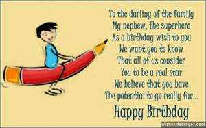 Birthday poems for nephew wishesmessages com