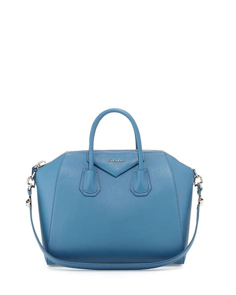 Givenchy Antigona Pouch Blue 1801145 givenchy antigona medium sugar satchel bag in blue medium blue lyst
