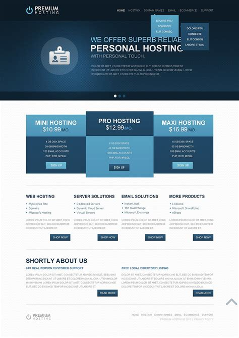 39 Best Web Hosting Website Templates Themes Free Premium Templates Website Template