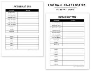free printable football roster the tomkat studio blog