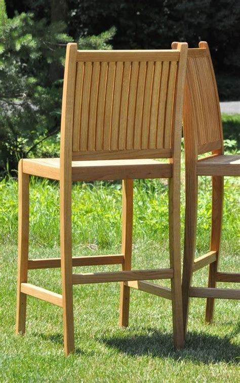 custom made white oak patio furniture by glessboards