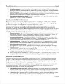 management resume templates management consulting resume exle for executive