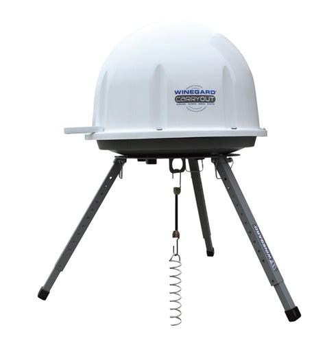 winegard carryout portable satellite antenna tripod
