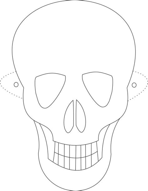 ghost mask coloring pages