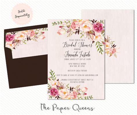 wedding invitation sles free bridal shower wedding invitation printable invitation