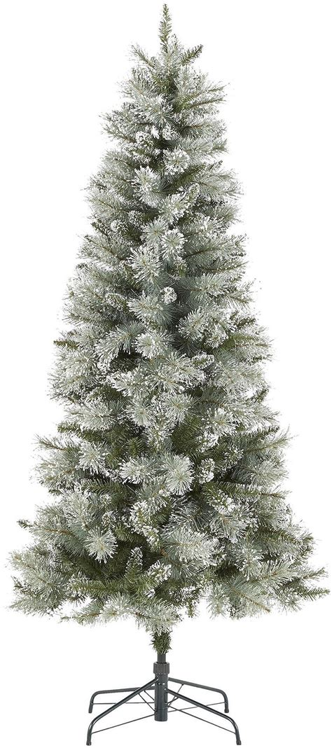 luxury alpine snow tree new tesco luxury 6 5ft alpine snow artificial tree green 5057373331830 ebay