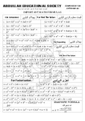 mathematical formulas  industrial  mechanical engineering