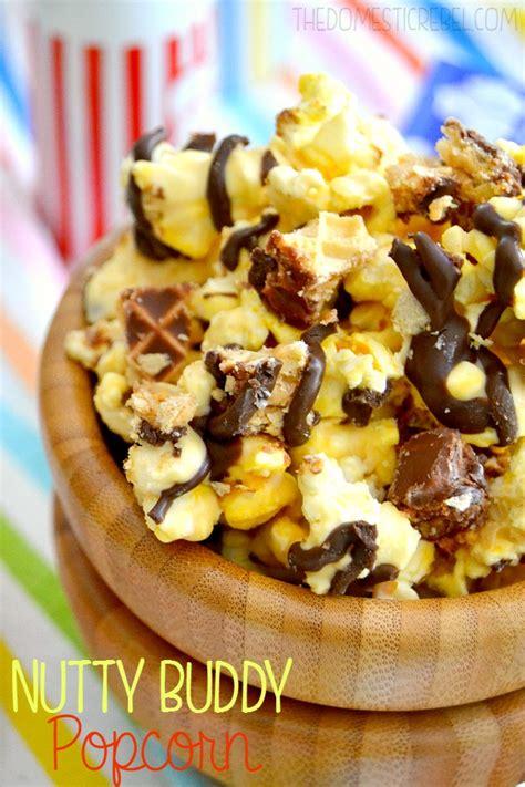 Nutty Buddy Popcorn | The Domestic Rebel Impossible Chocolate Coconut Pie Recipe