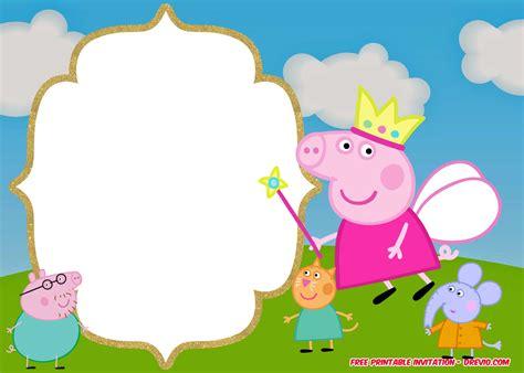 Free Printable Peppa Pig Invitation Birthday Templates Dolanpedia Invitations Template Peppa Pig Birthday Invitation Free Template