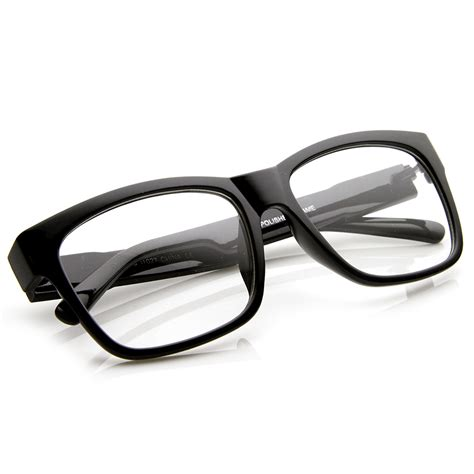 large fashion bold thick square frame clear lens