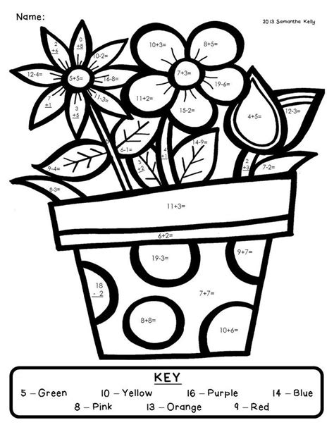color by numbers addition coloring pages addition color by number coloring home