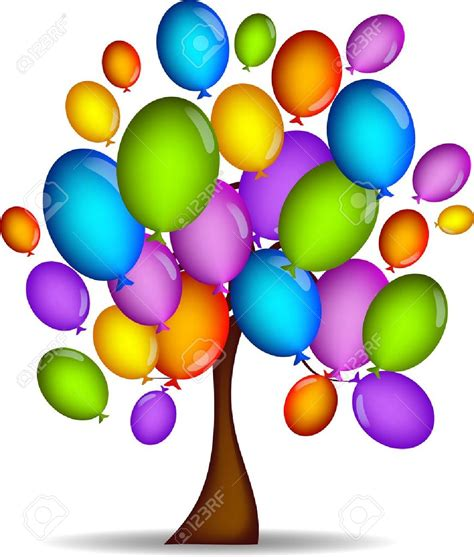 palloncini clipart free balloon tree clipart clipground