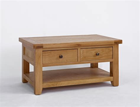 oak 2 drawer coffee table oak furniture solutions