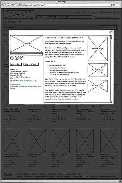 web ux tutorial maritime training ux wireframes web design on behance