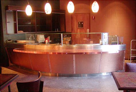restaurant bar tops stylish copper sushi bar custom made counter tops for