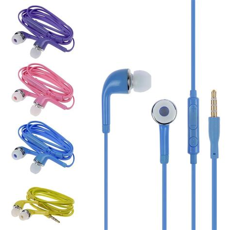 Earphone Samsung Galaxy S2 Earphone Earbuds W Mic Volume For Samsung Galaxy S2 S3 S4 S5 Note 2 3 Ebay