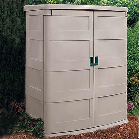 suncast vertical garden shed  patio storage