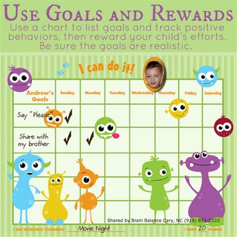 Track Hotwheel With Three Goals 6 use goals and rewards use a chart to list goals and track positive behaviors then reward