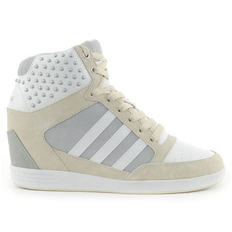 adidas women s weneo wedge running white bone shoes