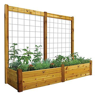 gronomics cedar raised garden bed   ideal planter