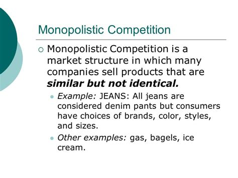 chapter 7 section 3 monopolistic competition and oligopoly chapter 7 market structures monopoly oligopoly ppt
