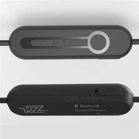 Kz Bluetooth Adapter Cable For Earphone Zs3 Zs5 Zs6 Kz Zs3 Zs5 Bluetooth 4 1 Ear Hook Earphone Module For Sports Black