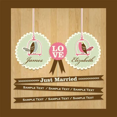 just married card template quaint bird wedding card template welovesolo