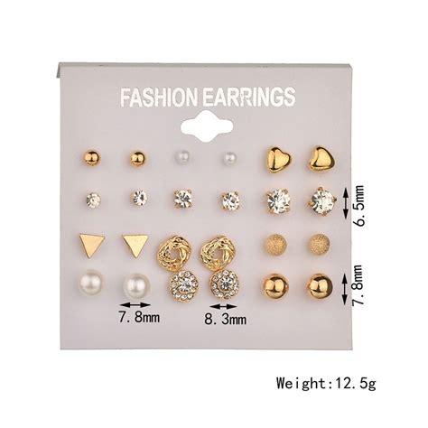 Exclusive Anting Korea Minimalist Earrings 6 Pairs 1 עגילים פשוט לקנות באלי אקספרס בעברית זיפי