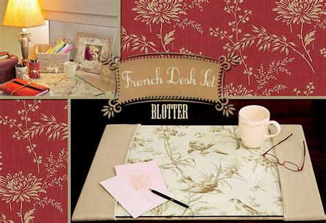 Diy Desk Blotter Desk Set Blotter Sew4home